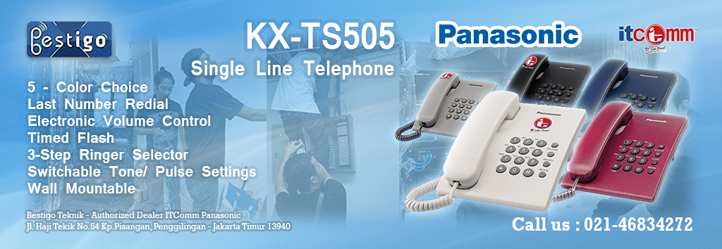 harga pabx | jual telephone single line panasonic kx-ts505