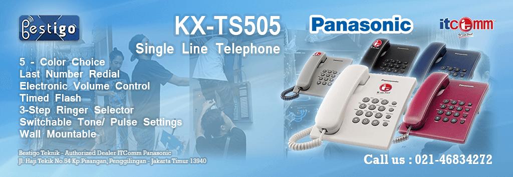 HARGA TELEPON SINGLE LINE PANASONIC KX-TS505